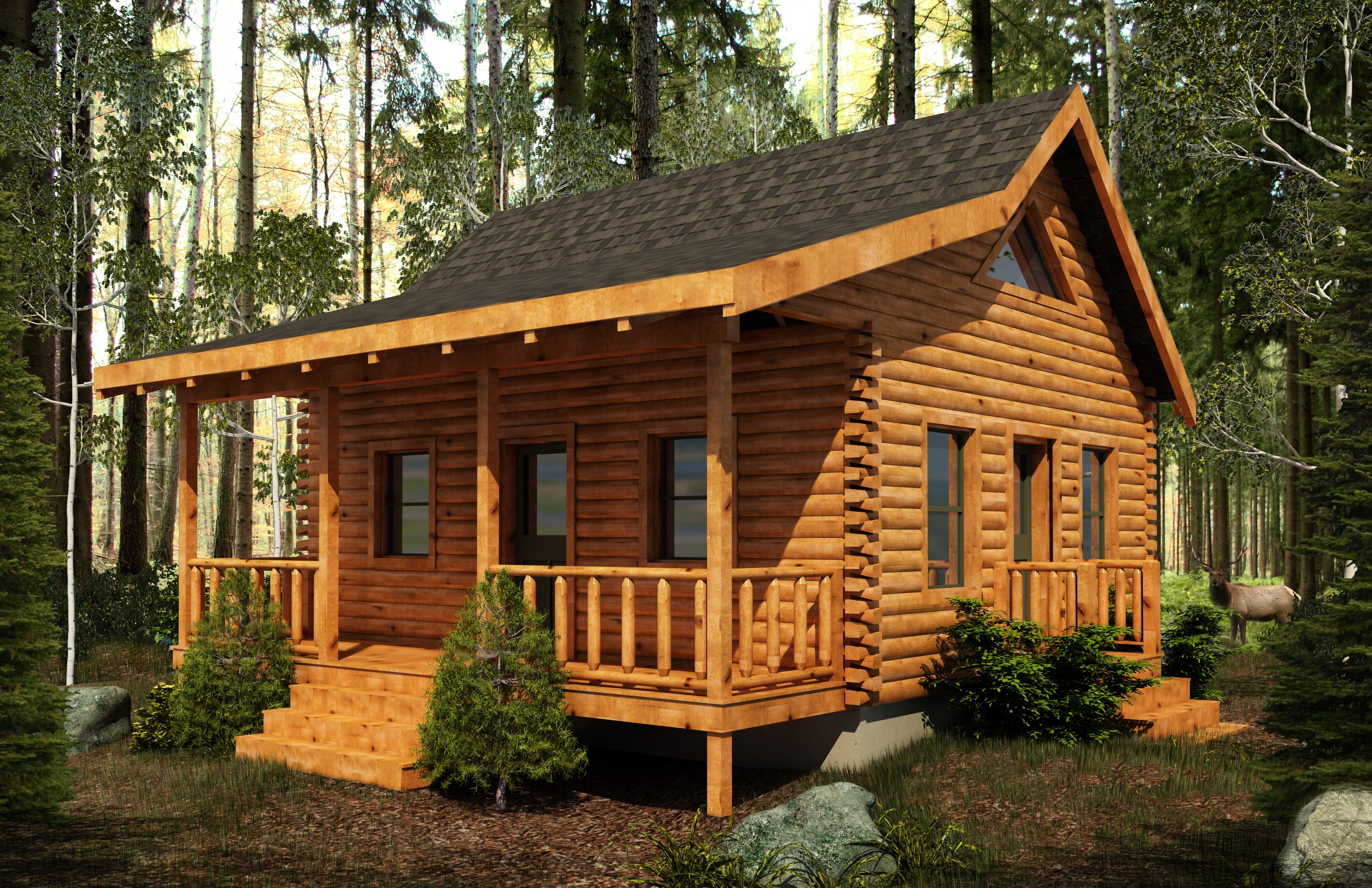 Pre cut kits burks fork log homes Pre cut homes
