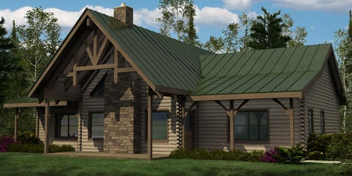 Home burks fork log homes Pre cut homes